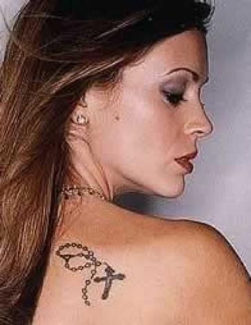 Celebrities Tattoos on Alyssa Milano Tattoos   Tattoo Pictures   Tattoo Photos