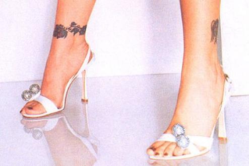 Alyssa Milano Ankle Tattoos
