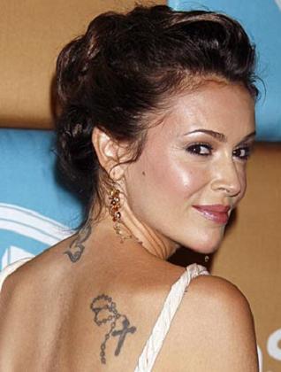 Alyssa Milano Tattoos on Alyssa Milano Tattoos