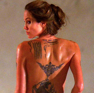 Beautiful Tattoos on Angelina Jolie Tattoos    All Star Tattoos