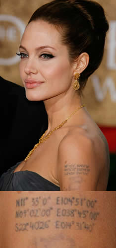 Tattoo Angelina Jolie Tattoos 29 All Star Tattoos