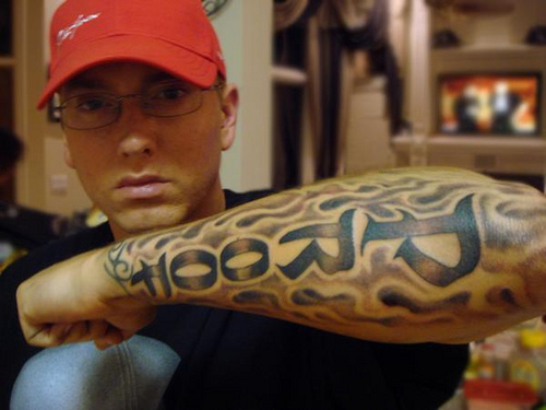 Eminem Tattoos All Star