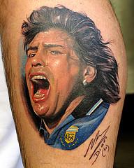 Tattoo Maradona Tattoos 1 All Star Tattoos