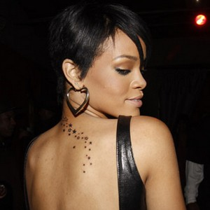 Rihanna Tattoos on Rihanna Tattoos    All Star Tattoos