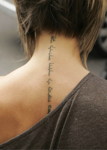 best soccer tattoos victoria beckham tattoos with a very nice and cool in