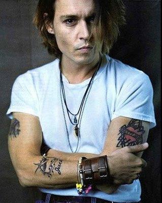 Johnny Depp Tattoos All Star