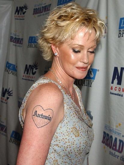 Melanie griffith tattoos all star tattoos for Melanie griffith tattoo