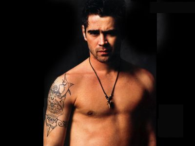 mary tattoos. Colin Farrell tattoos